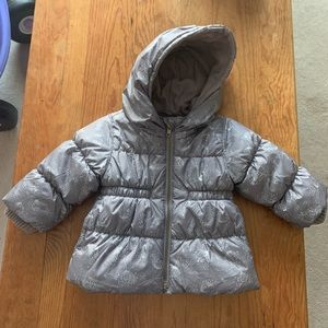 Old Navy Grey Puffer Jacket 12-18 Month Size